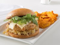 Apple and Onion Chicken Sandwich
