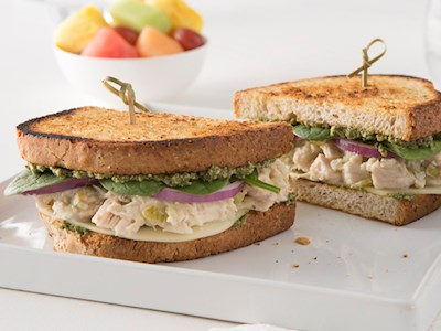 Spinach and Chicken Salad Sandwich image